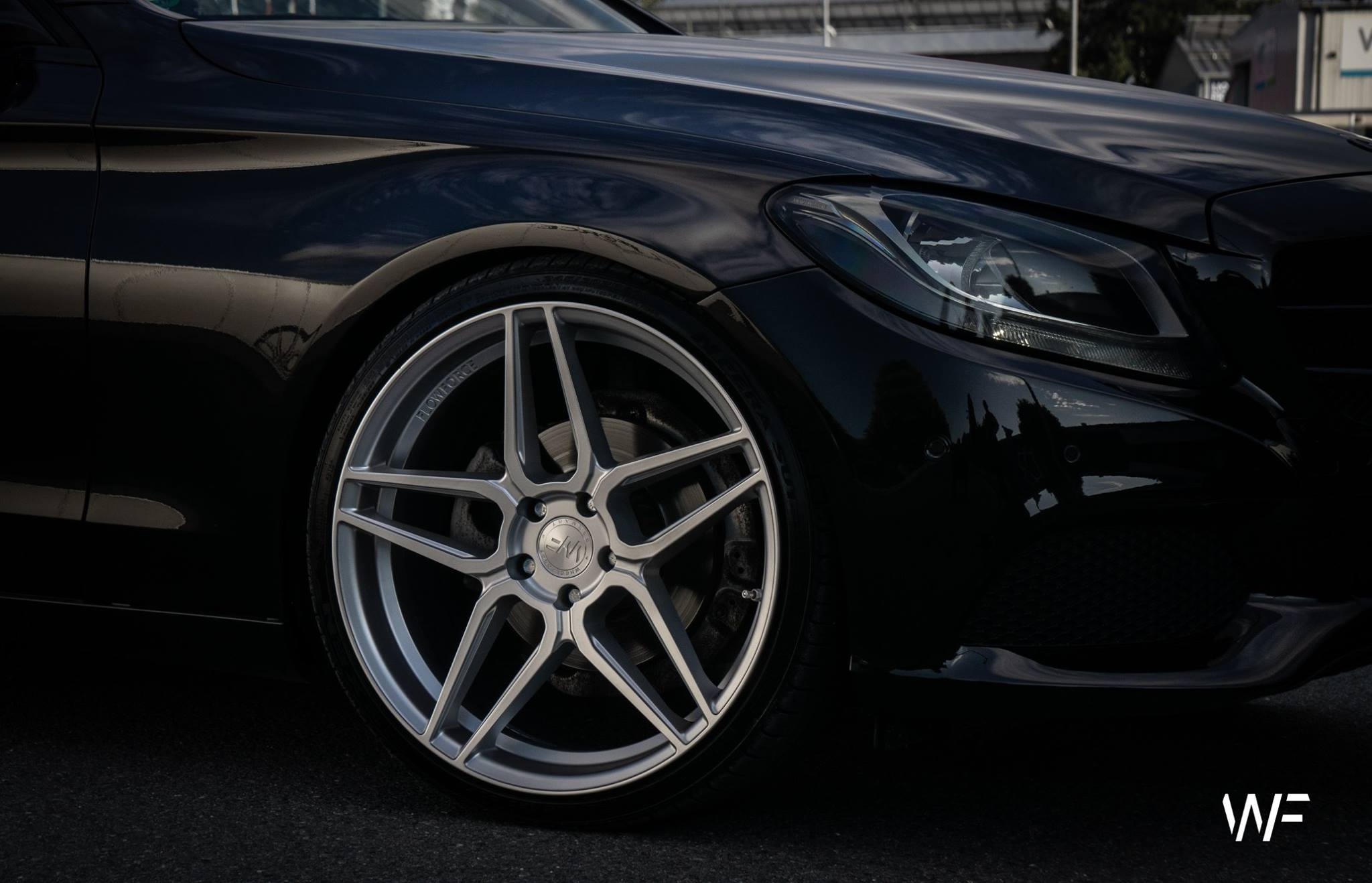 "Wheelforce CF.1-FF 20"" Felgensatz für Mercedes C Klasse in Frozen Silver"